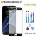 Оригинальное Качество Сенсорная Панель Внешний Стекло для Samsung Galaxy S7 SM-G930 G930F Экран Замена Переднее Стекло ЖК-Объектив С Логотипом