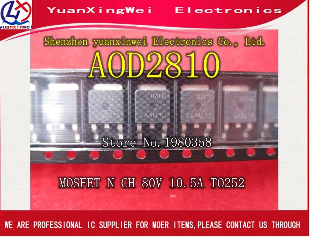 Free Shipping 10pcs/lot AOD2810 D2810 TO-252 100% NEW