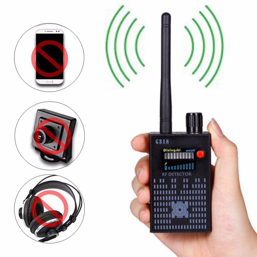G318 Portable Anti-eavesdrop Anti-tracing Anti-tracking Wireless Signal RF Bug Amplification Detector CDMA 2G 3G 4G GPS Finder 1 pcs full range multi function detectable rf lens detector wireless camera gps spy bug rf signal gsm device finder