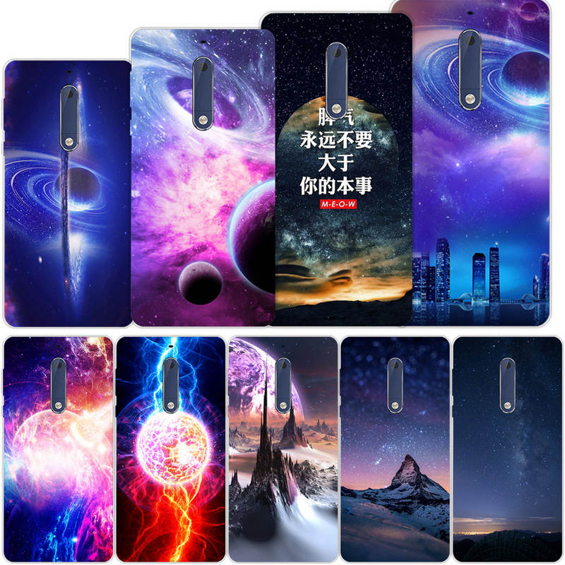 Silicone Case For <font><b>Nokia</b></font> 5 TA <font><b>1053</b></font> 1024 Soft TPU Cell Phone Back Cover Capa Nokia5 2017 TA-<font><b>1053</b></font> TA-1024 Star Space skin ky103 image