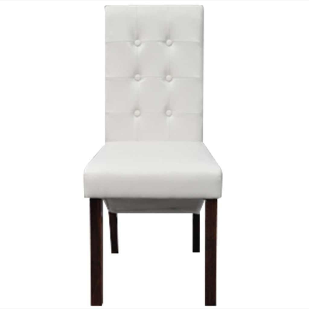 Marvelous Us 340 99 Vidaxl 6 Scroll Back Artificial Leather Wooden Dining Chairs White In Dining Chairs From Furniture On Aliexpress Com Alibaba Group Pabps2019 Chair Design Images Pabps2019Com