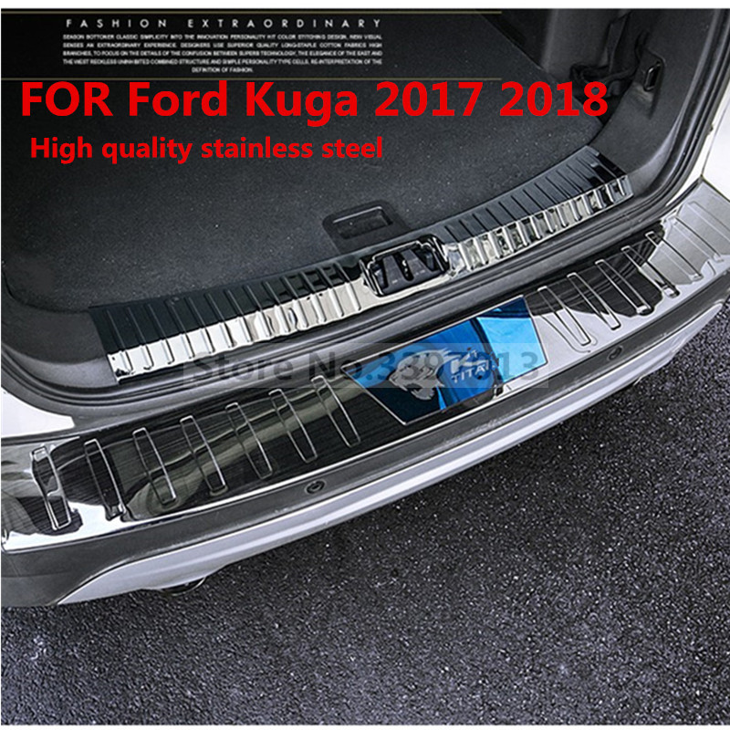 Car styling stainless steel tail plate trim cover inside fit for 2013 2014 2015 2016 2017