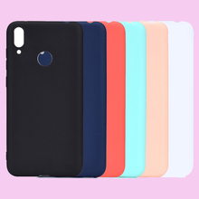 Fashion Candy Solid Color Soft TPU Cases Phone Silicone Cover Shell Coque Funda for HUAWEI Y7 2019 6.26w/ Fingerprint Hole Case