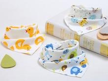 CHUYA baby saliva bibs burp cloths skip zoo waterproof bandana bib cotton scarf  accessories Boy&Girl Burp Cloths
