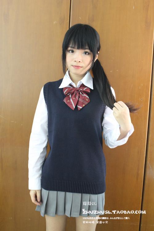 Cosplay K,ON Sleeveless sweater Vest uniforms V,neck Japanese High school uniform sweater