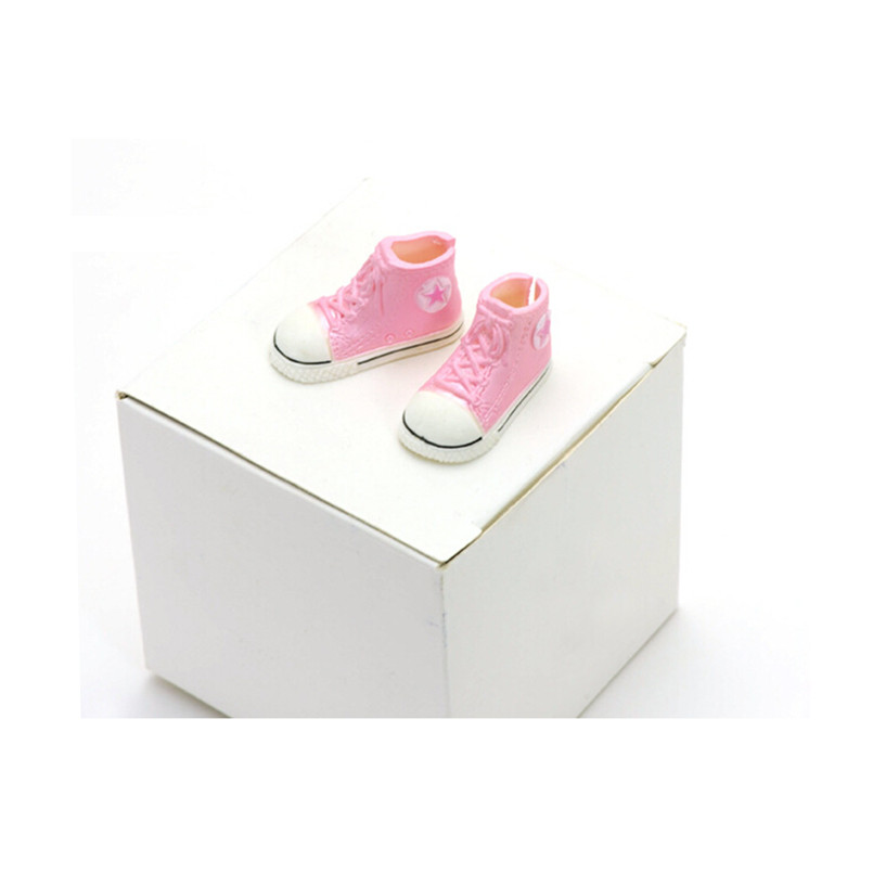 WOWHOT! 3.5cm Plastic Doll Shoes for Blythe BJD Dolls,Left and Right Ball Joints Doll Accessory Cute Gym Shoes BJD Toy Sneakers handmade chinese ancient doll tang beauty princess pingyang 1 6 bjd dolls 12 jointed doll toy for girl christmas gift brinquedo