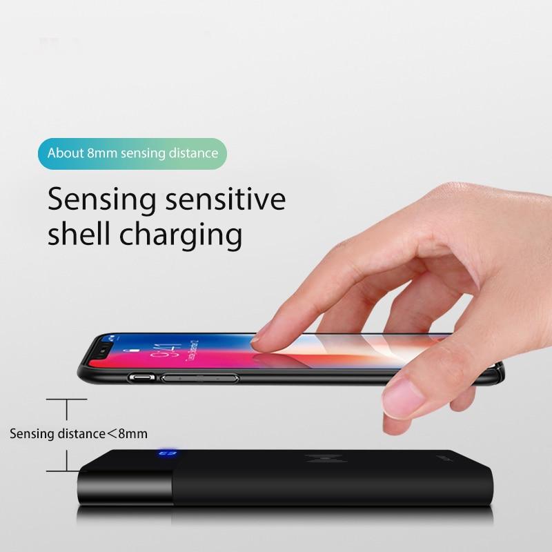 VVKing Power Bank QI Sans Fil Chargeur 8000 mah Pour iPhone X XS Xr 8 plus la Batterie Chargeur Sans Fil Powerbank Pour samsung S9 S8 Plus - 2