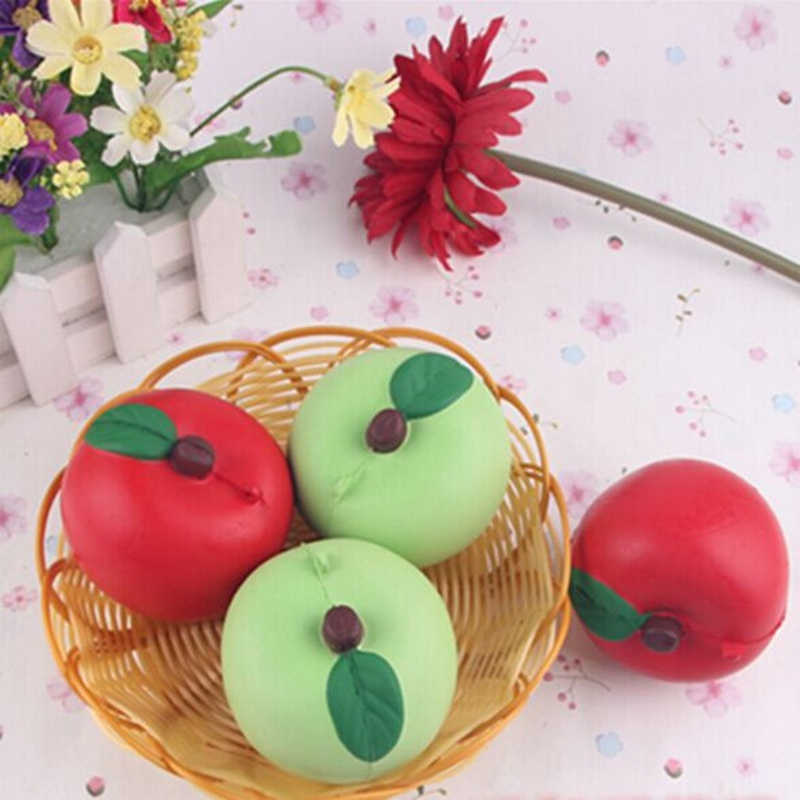 5CM Soft Apples Kawaii Squishy Fruit Fun Toys Soft Gift Cafe Decoration Novelty Toys Slow Rising