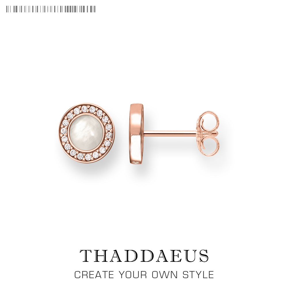 Rose Gold Round Stud Earrings,Thomas Style Fashion Good Shell Jewerly For Women,2018 Ts Gift In 925 Sterling Silver,Super Deals