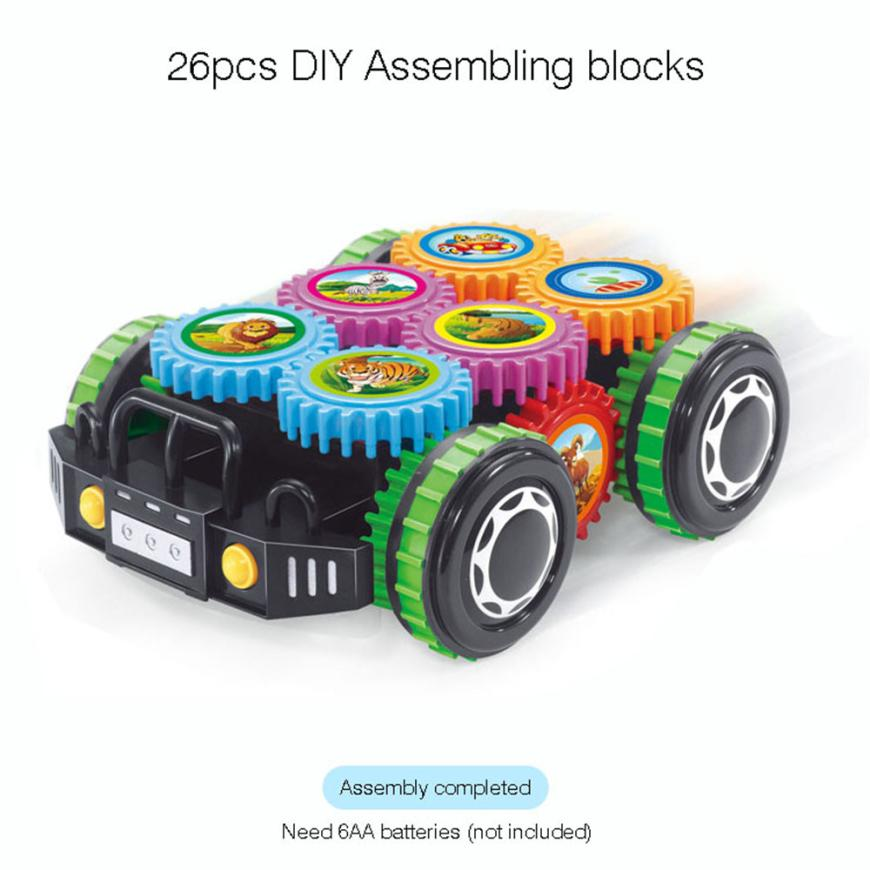 DIY Imagination Building Bricks Blocks Remote Control Car Building Kit Toys For Children ...