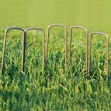 50 шт садовый оцинкованный стальной ворс u-образные гвозди для фиксации сорняков ткань пейзаж ткань сетка пол гвоздь