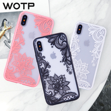 WOTP Sexy Retro Lace Flower Phone Case For iPhone 7 6 6s 5 5s SE Case For iPhone X 8 7 Plus Mandala Floral Hard PC+TPU Coverage чехол rock tpu pc guard series для iphone 7 plus 5 5