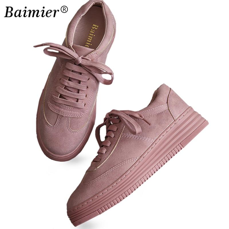 Blancos Primavera Suave Casuales De Real Zapatillas Cuero White Plataforma Femenino Mujeres 2017 pink mesh Otoño Sapato Zapatos White Cómodos E41qH
