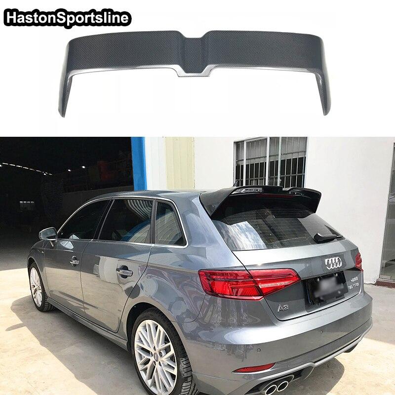 A3 Hatchback Carbon Fiber Rear Roof Spoiler Wing for Audi A3 S3 S Line 2014 2018