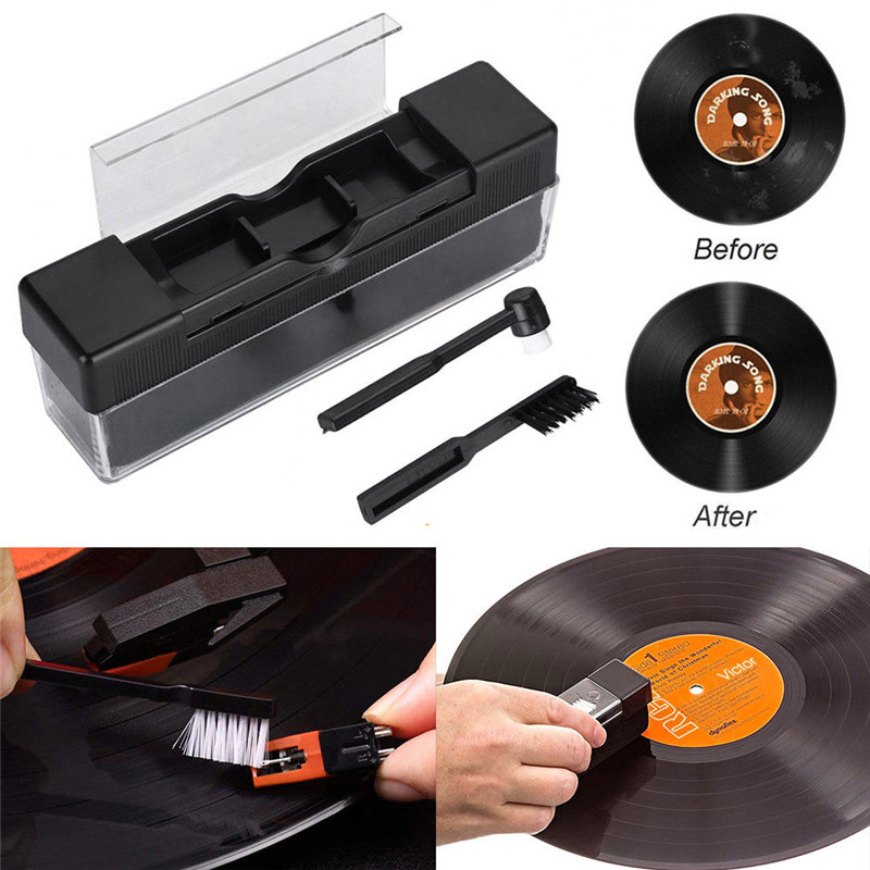 1 Pcs Combination Vinyl Records Cleaning Kit Turntables Cleaning Kit With Small Brush LP Phonograph Record Cleaning Kit