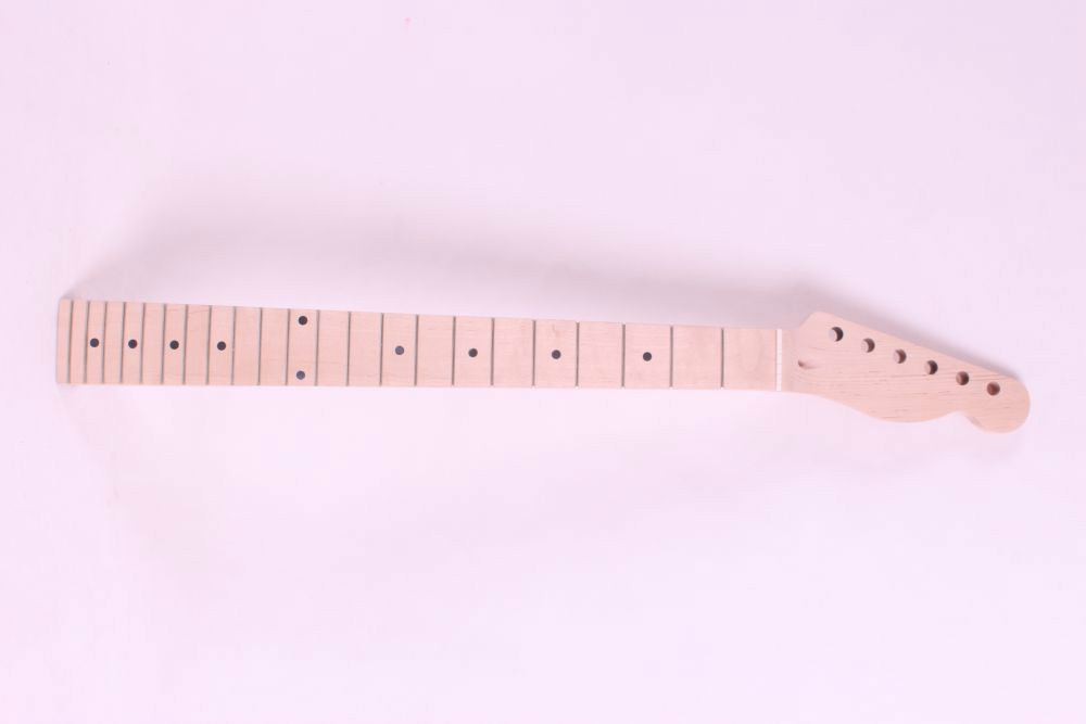 one  right  unfinished electric guitar neck maple   made and maple  fingerboard Bolt on 22 fret 7313 new one black 22 fret white good unfinished electric guitar neck maple made and maple fingerboard