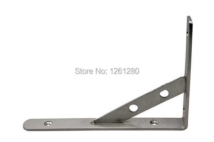 цены free shipping 12inch stainless steel bracket household hardware wall bracket shelf support bracket furniture part item supply