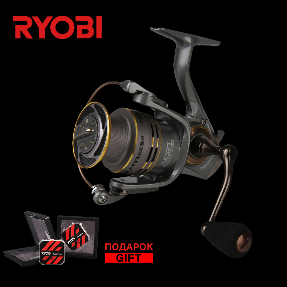 <font><b>RYOBI</b></font> SLAM 1000/<font><b>2000</b></font>/3000/4000 Carbon Lightweight Wheel Freshwater Stronger Smooth Cast Titanium Concept Carp Spinning Reels image