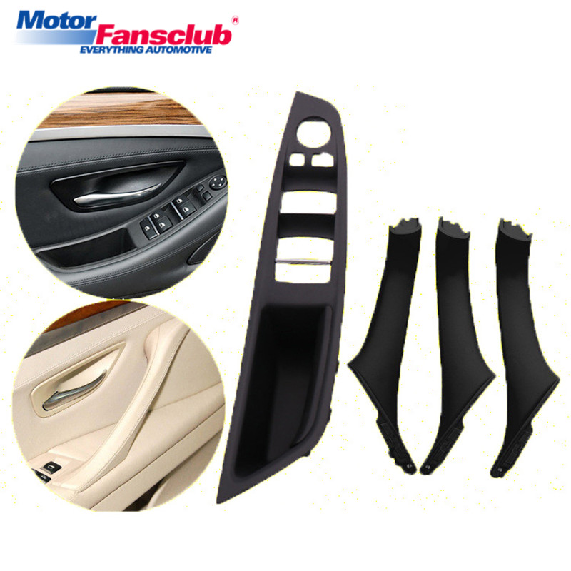 4Pcs Interior Inner Door Handle Pull Trim Grip Cover for BMW F10 F11 F18 F30 520i 525i 5-Series Left Hand Driving Car Styling chrome 3pcs interior head light lamp switch button cover trim for bmw 5 series f10 2011 2012 2013 2014 car styling