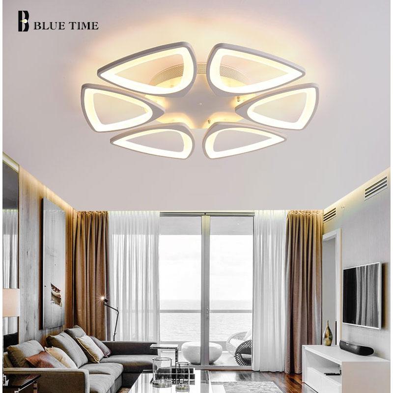 Modern Led Chandelier For Living Room Bedroom Dining room Lampara de techo Acrylic White LED Ceiling Chandelier Lighting Fixture
