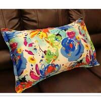 100% silk pillowcase 1pc pillow case pillow cover envelope back print stain fabric silk bedding #ls1505 6