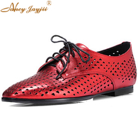 BC Shoes Women S Shoes Leather Flat Heel Round Toe Flats Dress Casual Red Silver