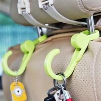 TTLIFE Car Back Swivel Hooks 2PCS Multifunction 360 Degree Free Spinning Pocket Bags Hooks Random Color