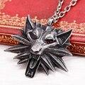 M JEWEL Witcher 3 o selvagem caça 3 Figure jogo medalhão lobo cabeça pendente de colar