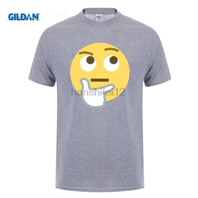 e64684453 GILDAN Emoji Question Men T Shirts Man Summer Graphic Tees Adult Newest Big  Tops Popular High Quality Comfortable Dad Tee Shirts