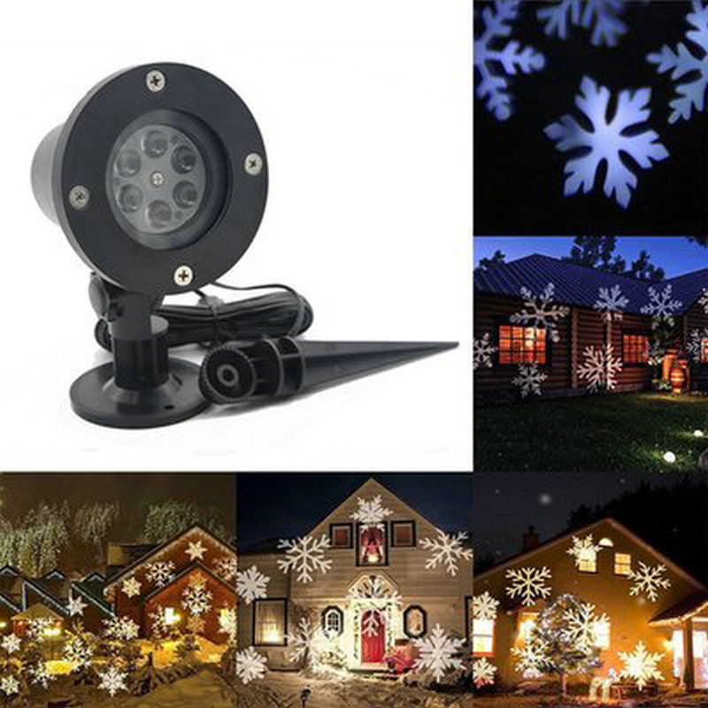 Nice Waterproof Outdoor Snowflake Led Stage Snow Lights Waterproof Light Christmas Holiday White & Rgb Color Lighting Party 220v 110v Hot Sale 50-70% OFF Led Lamps Lights & Lighting