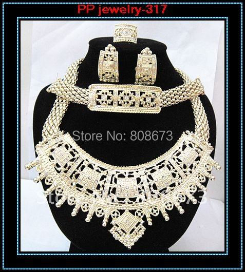 Good Quality Gold Plated Luxury Big Jewelry Sets