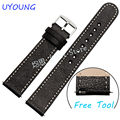 New arrival For moto 360 2nd Genuine Leather Watchband 20mm22mm Quality Fashion Smart Watch Strap For Ticwatch