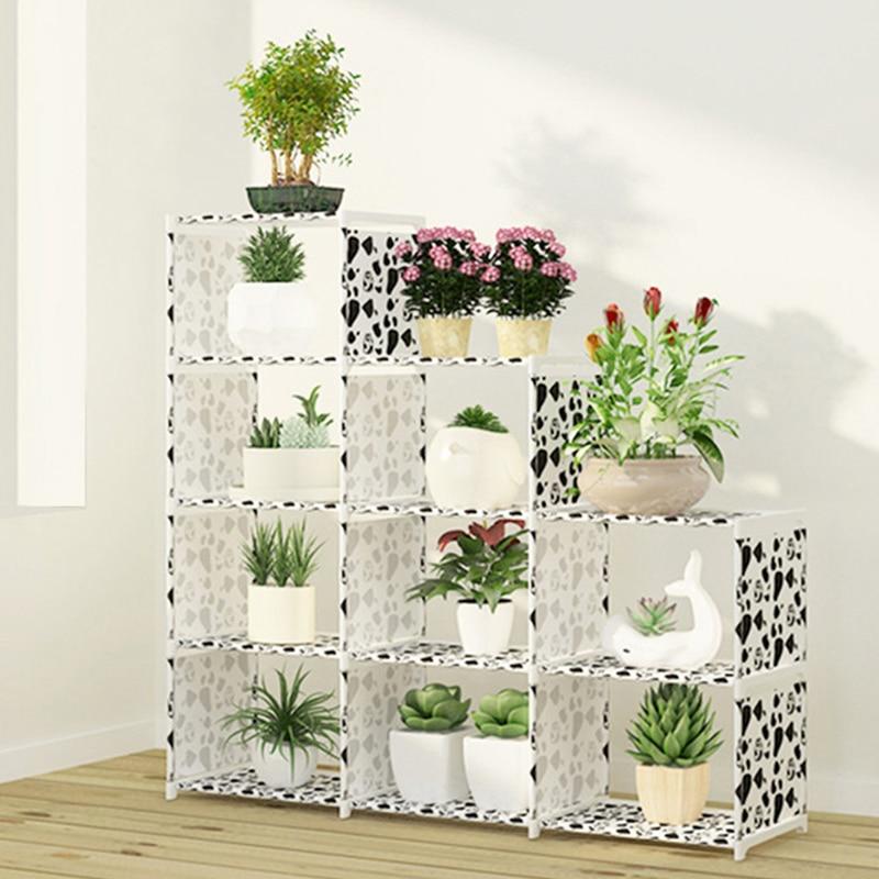 Multi-couche nonwovens étagère de rangement étagère Simple assemblage peut être enlevé chambre pot de fleur rack