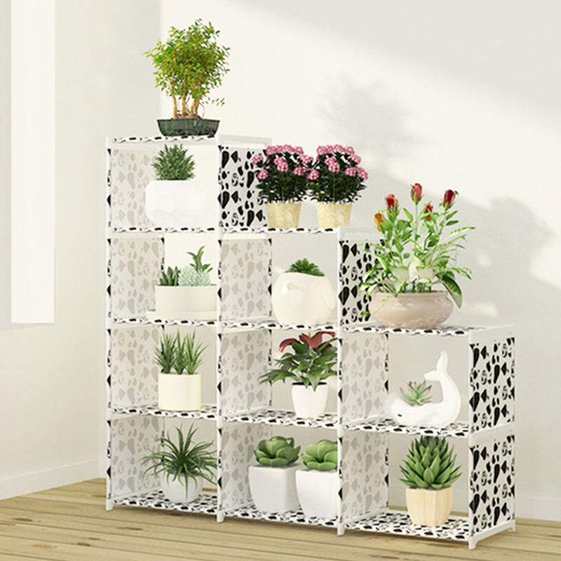 Multi-layer Nonwovens Bookshelf  Storage Shelf Simple Assembly Can Be Removed Bedroom Flower Pot Rack
