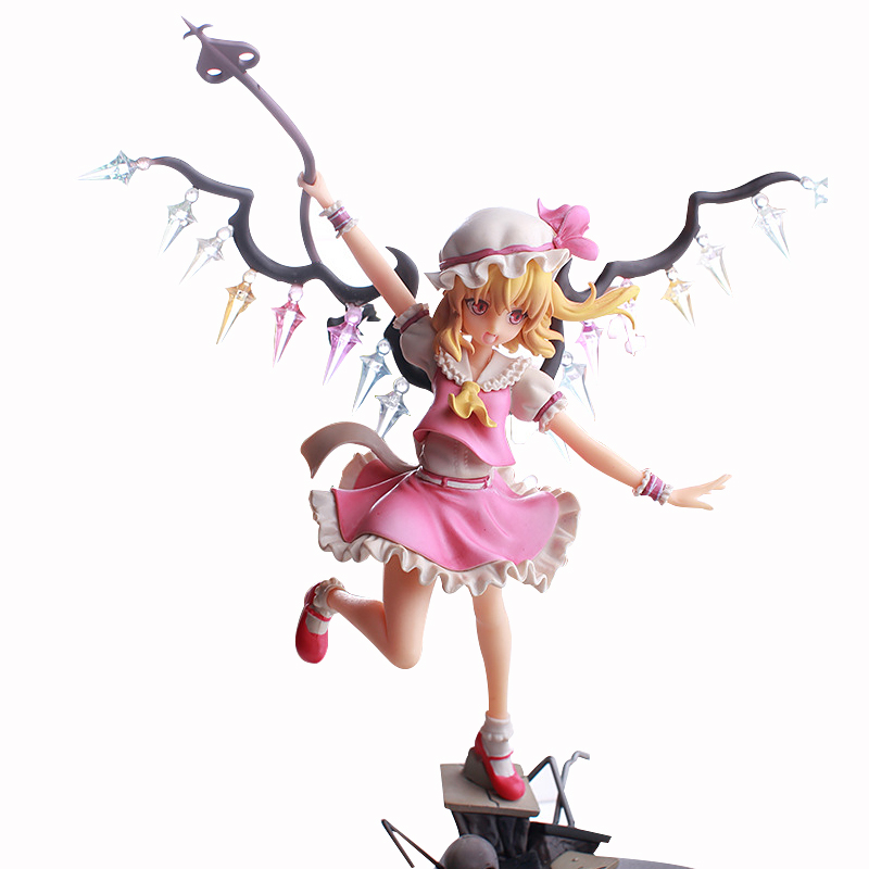 ZXZ 24cm TouHou Project Anime Flandre Scarlet  PVC Action Figure Toys Collection Model Gifts tobyfancy touhou project action figures komeiji koishi 200mm pvc model toys anime touhou project komeiji koishi figures