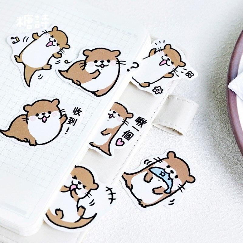 45pcs cute otter series paper sticker diy diary decor for album scrapbooking CA*