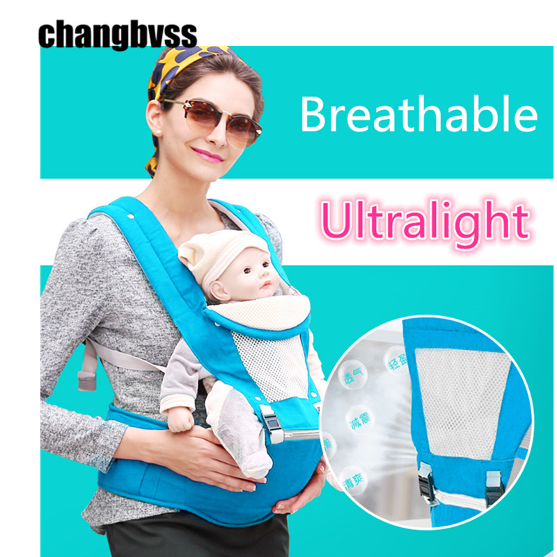 ФОТО Hot Sale Ultralight Baby Wrap Sling Breathable Baby Carriers for Infant,Mochila Ergonomica Portabebe,Kids Baby Backpack Hip Seat