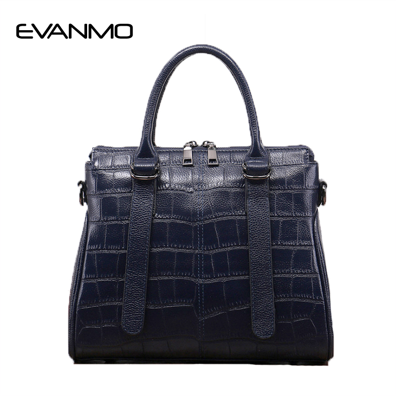 2018 Genuine Leather Stone Pattern Women Handbag Famous Brand Design Messenger Bag Fashion Tassel Tote Bags Crossbody Bag