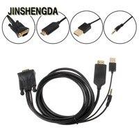 JINSHENGDA VGA כבלי HDMI כבל מתאם אודיו וידאו + אודיו כבל חשמל USB עבור 1080 P HDTV מחשב מקרן