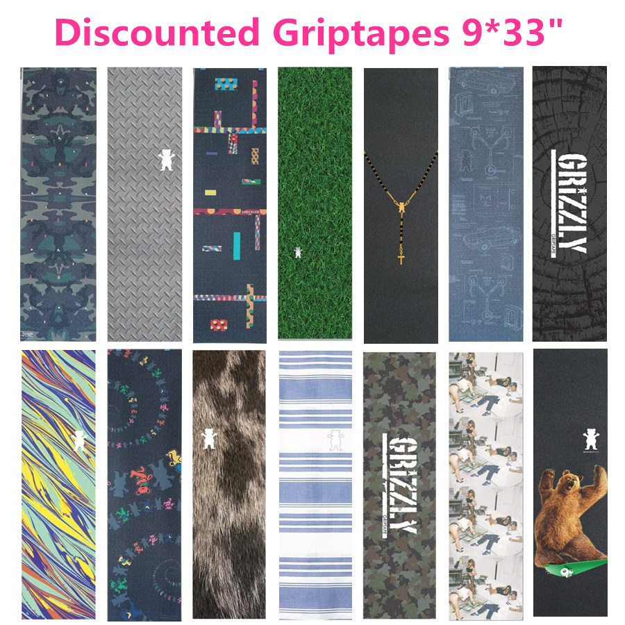 Special Offer Cheap Skateboard Grip Tape 9x33 Quality Silicon Carbide Skate Griptapes Scooter Sandpaper