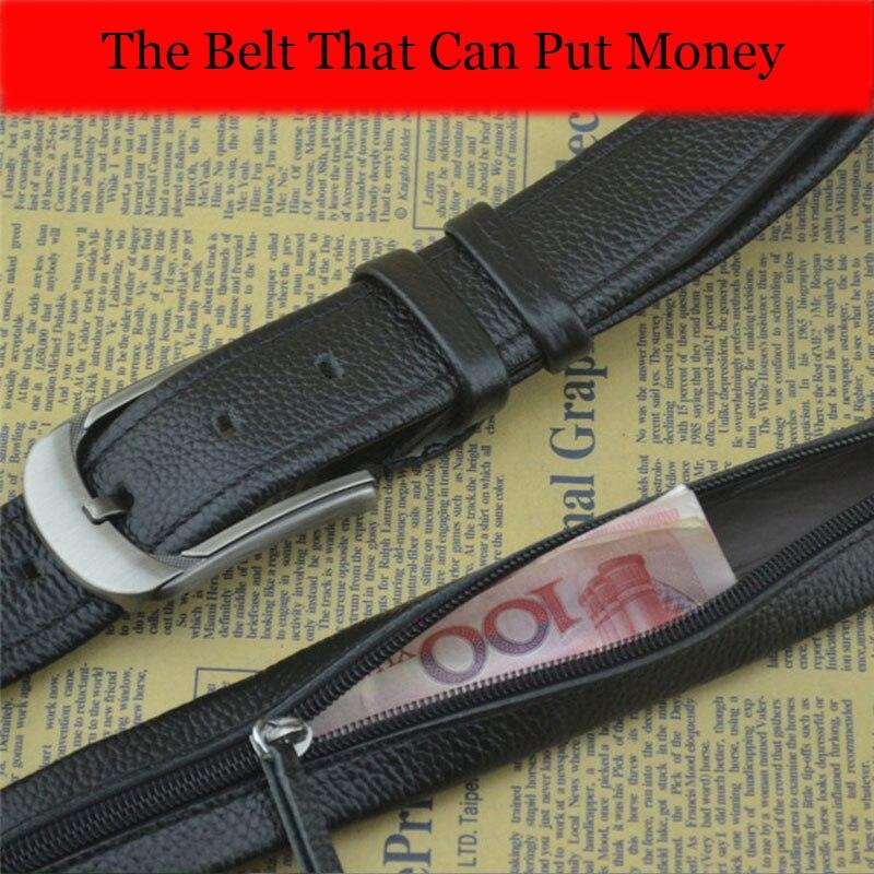 The Belt That Can Put Money Genuine Leather Male Belt For Men High Quality Pin Buckle Men's Belts For Men Jeans Fashion Designer