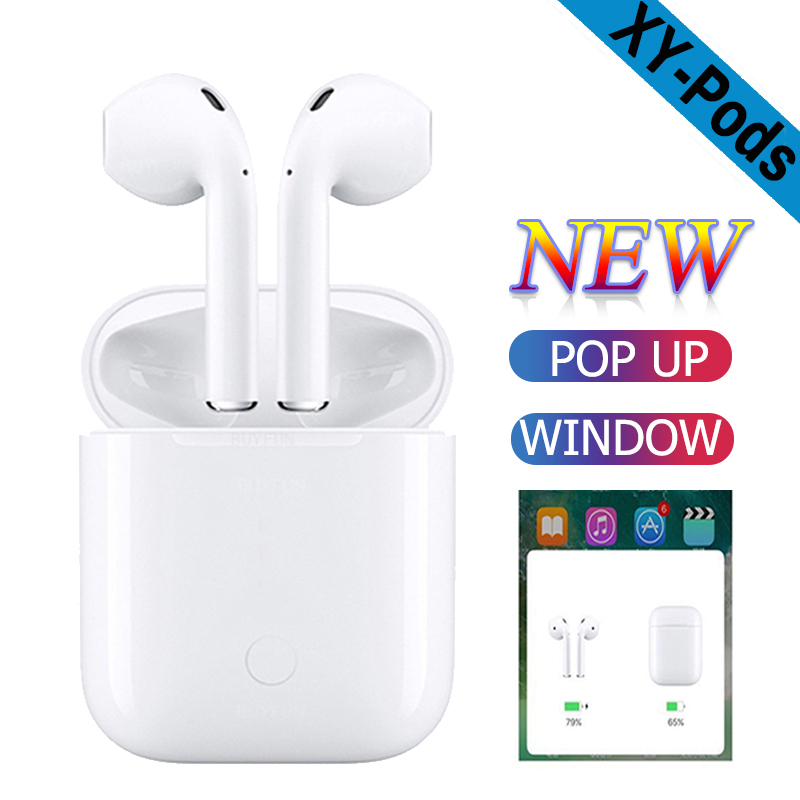 Adroit 2019 W1 Chip Xy Pods Tws Earphone 1:1 Air Pods Wireless Bluetooth 5.0 Earbuds Sport 3d Stereo Headset Pk I10 I12 Mini Earphones