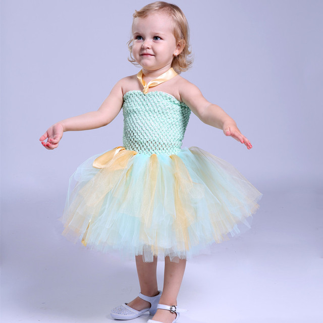 Handmade Newborn Baby Girl Infant Princess Dress Tulle Tutu Dresses Baptism Costume 1 Year Birthday Dress Photo Photography Prop