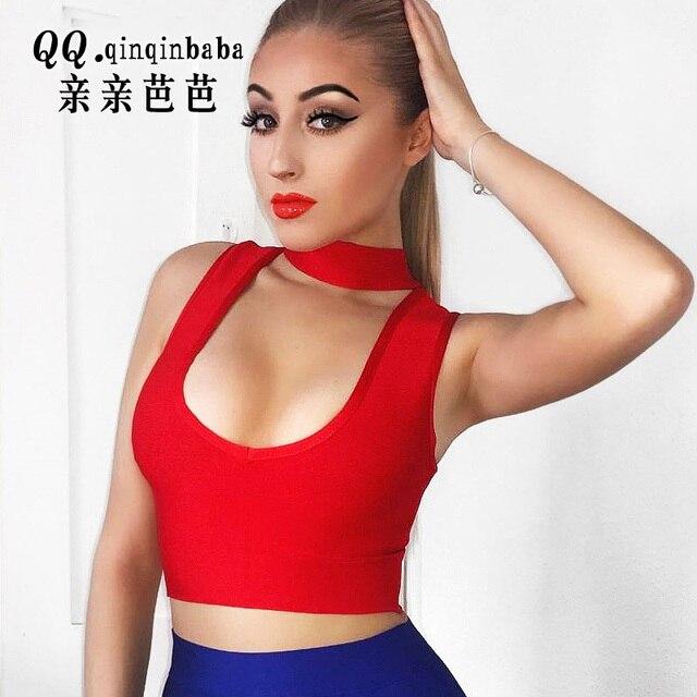 77a628b872843a Women Sexy High Neck Halter Off Shoulder Choker Neck Asymmetrical Crop Top  Girls Party Belly Tank