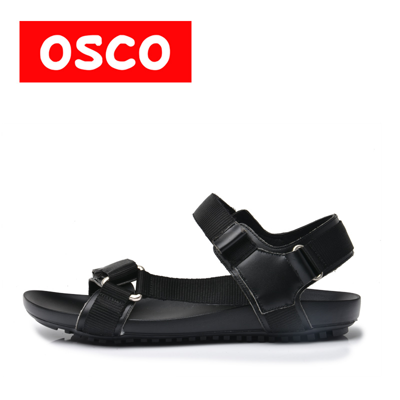 OSCO Factory direct Summer Fashion New Style Men Genuine Leather Sandals Comfortable Breathable #RU0013