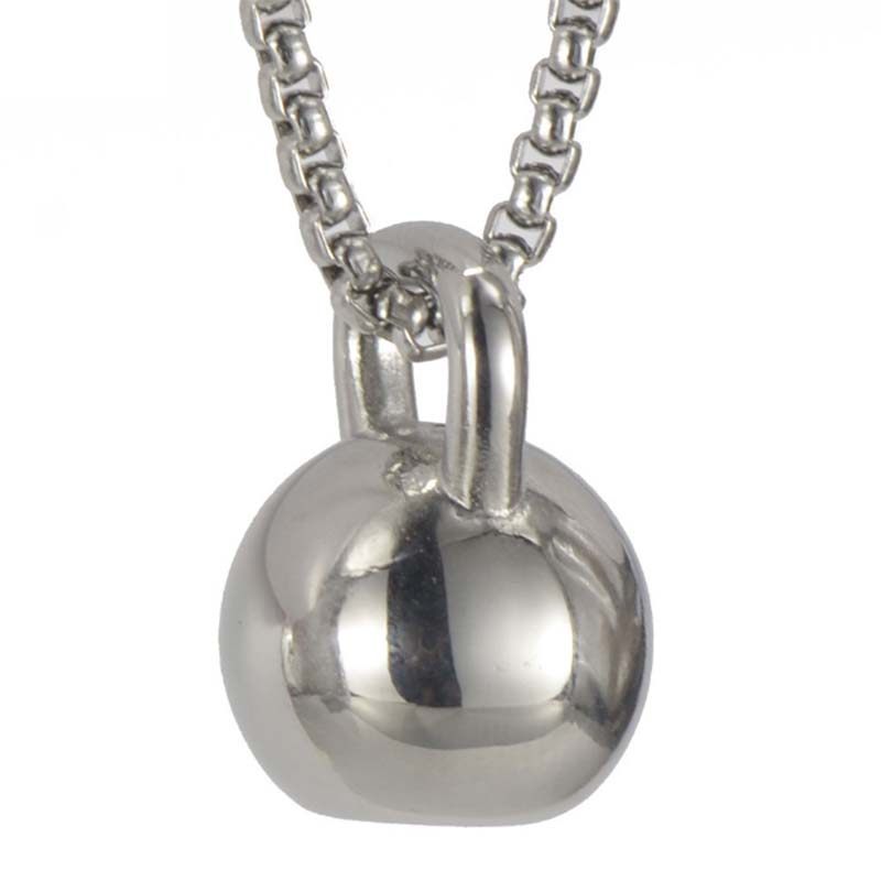 Kettlebell Pendant Stainless steel Barbell Necklace Sporty Men Jewelry Fashion Cloth Accessories 23 in Chain Workout Jewelry