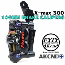 AKCND Motorcycle Brake Caloper Bracket Adspter For Yamaha X-MAX 300 xmax 267mm and 100mm Calipers