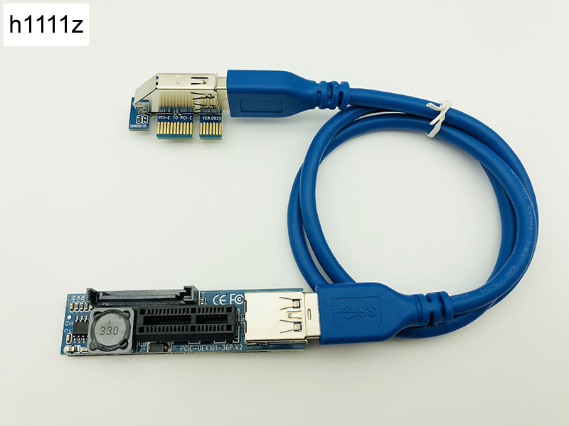 PCI-E Extender PCI E 1X To 1X Riser USB 3.0 Cable SATA Power Working For Motherboard PCI-E X1 Slot Bitcoin Miner Antminer Mining