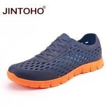 Лето jintoho дышащая мужская спортивная обувь Высокое качество летняя пляжная обувь унисекс пляжная водонепроницаемая обувь дешевая дышащая обувь