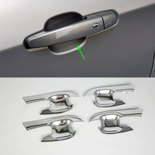 цена на For Chevrolet Equinox 2017 Car-styling Accessories Exterior Decoration ABS Chrome Door Handle Bowl Cover Trims